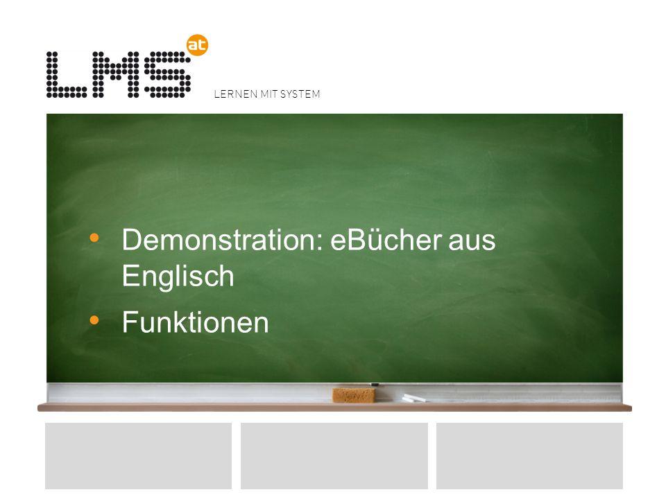 LERNEN MIT SYSTEM Demonstration: eBücher aus Englisch Funktionen 14