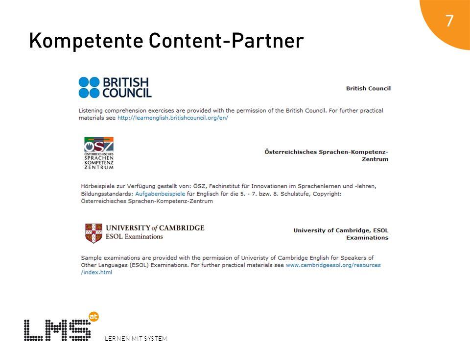 LERNEN MIT SYSTEM Kompetente Content-Partner 7