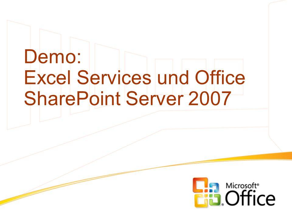 Demo: Excel Services und Office SharePoint Server 2007