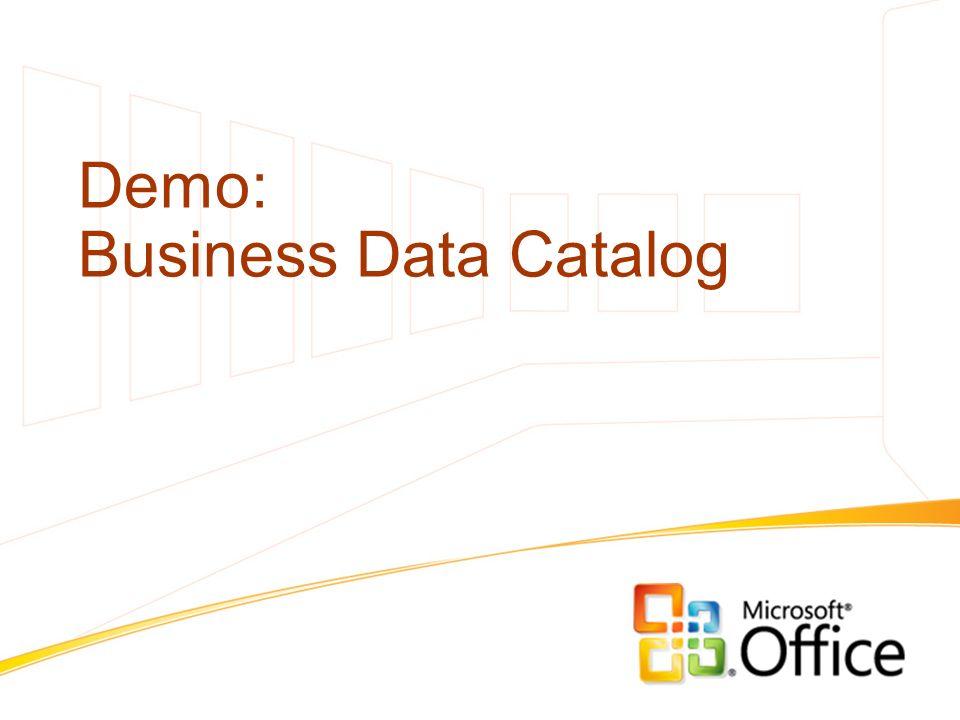 Demo: Business Data Catalog