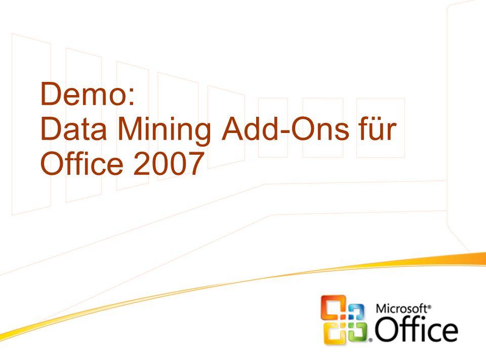 Demo: Data Mining Add-Ons für Office 2007
