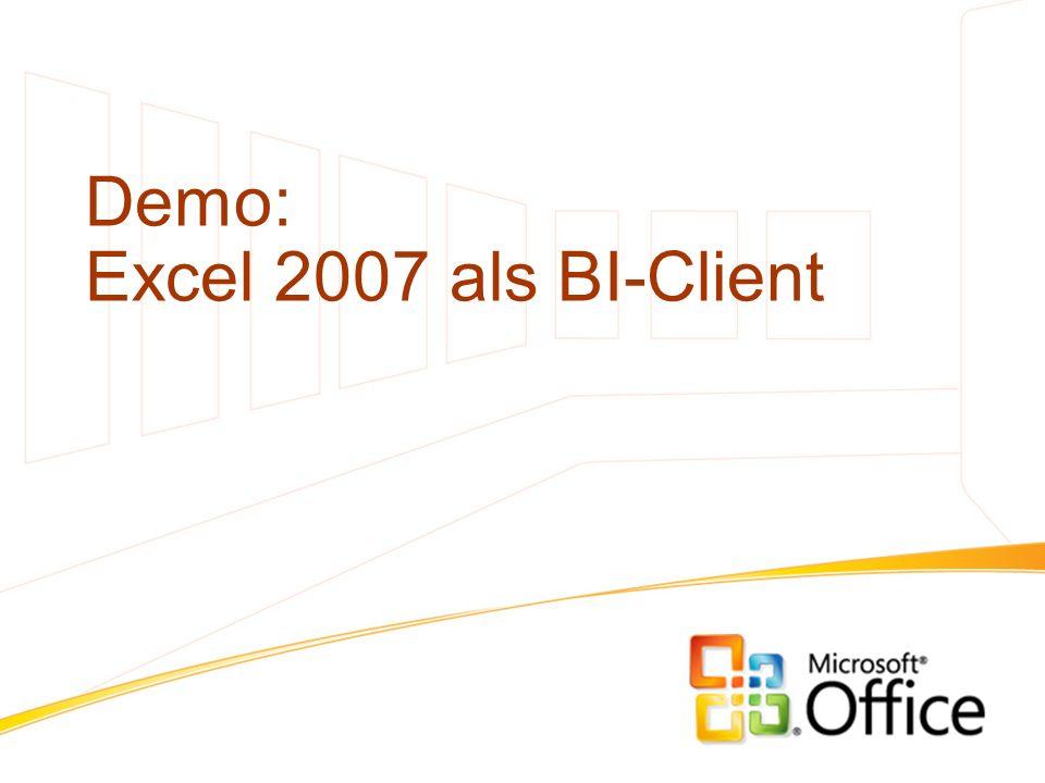 Demo: Excel 2007 als BI-Client