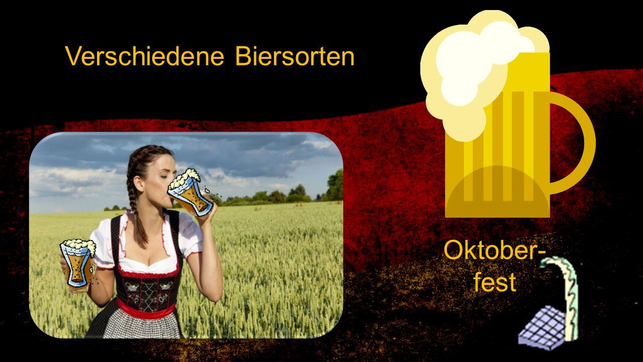 Verschiedene Biersorten Oktober- fest