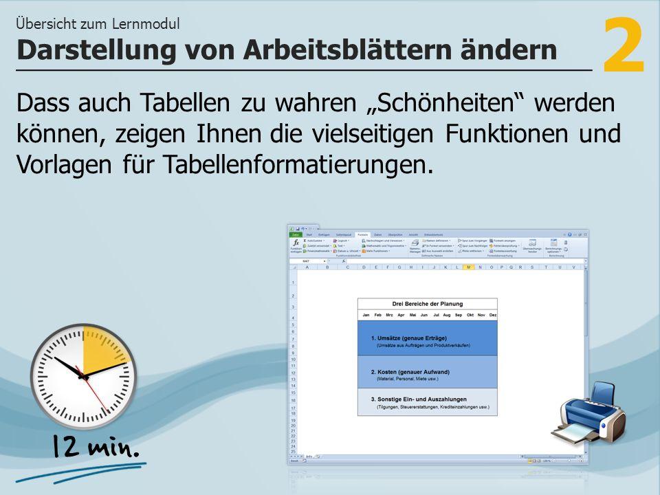 2 Dass auch Tabellen zu wahren Schönheiten werden können, zeigen Ihnen die vielseitigen Funktionen und Vorlagen für Tabellenformatierungen.
