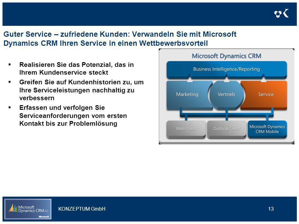 Guter Service – zufriedene Kunden: Verwandeln Sie mit Microsoft Dynamics CRM Ihren Service in einen Wettbewerbsvorteil Realisieren Sie das Potenzial,