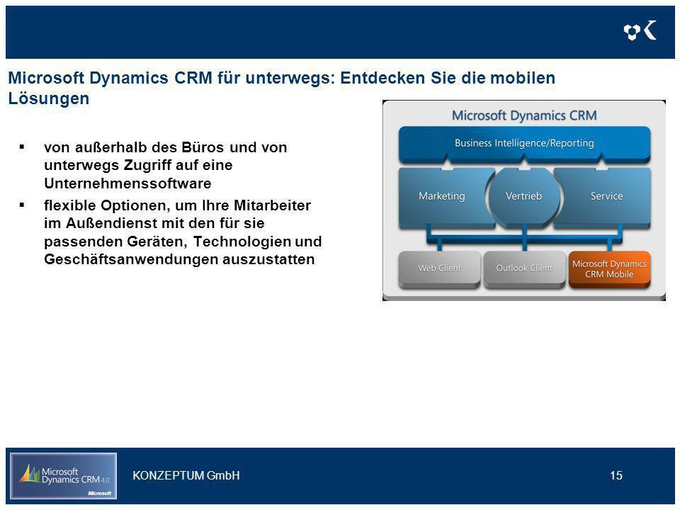 Microsoft Dynamics CRM für unterwegs: Entdecken Sie die mobilen Lösungen von außerhalb des Büros und von unterwegs Zugriff auf eine Unternehmenssoftwa