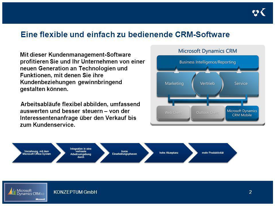 Eine flexible und einfach zu bedienende CRM-Software Mit dieser Kundenmanagement-Software profitieren Sie und Ihr Unternehmen von einer neuen Generati
