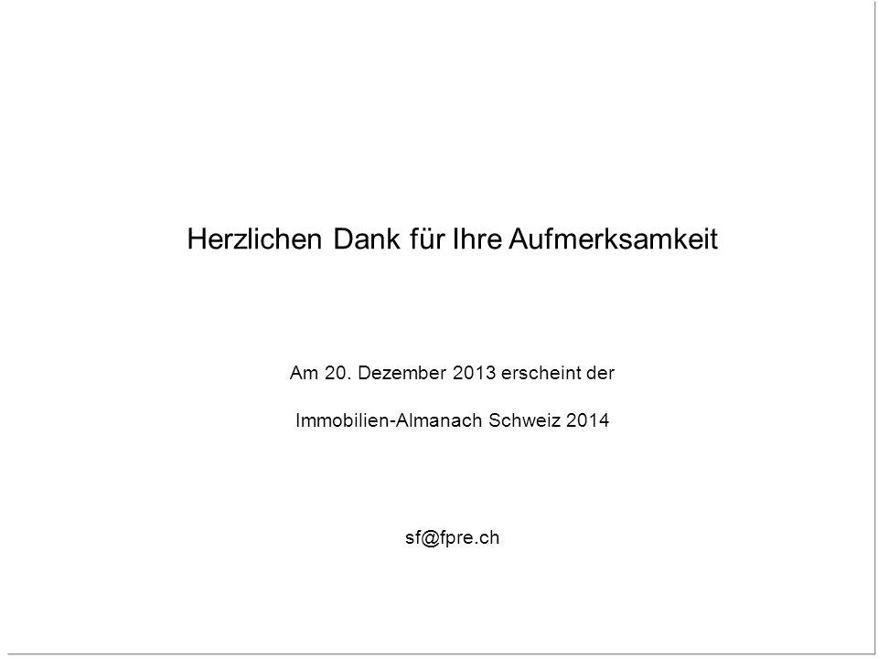 41 Fahrländer Partner AG Raumentwicklung Eichstrasse 23 8045 Zürich Herzlichen Dank für Ihre Aufmerksamkeit Am 20. Dezember 2013 erscheint der Immobil