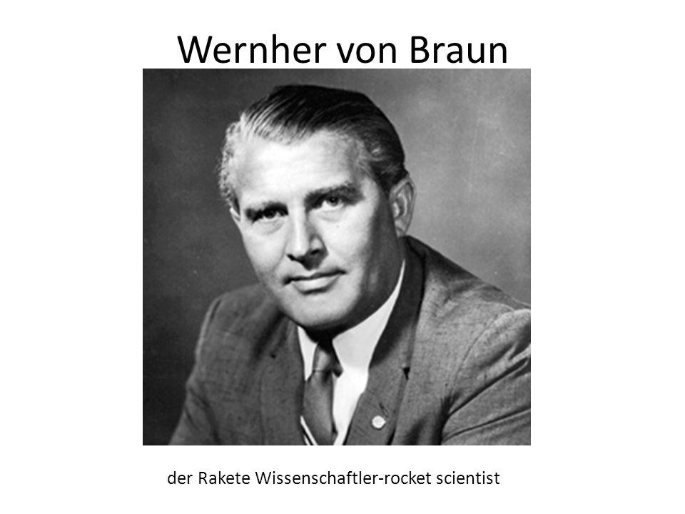 Wernher von Braun der Rakete Wissenschaftler-rocket scientist