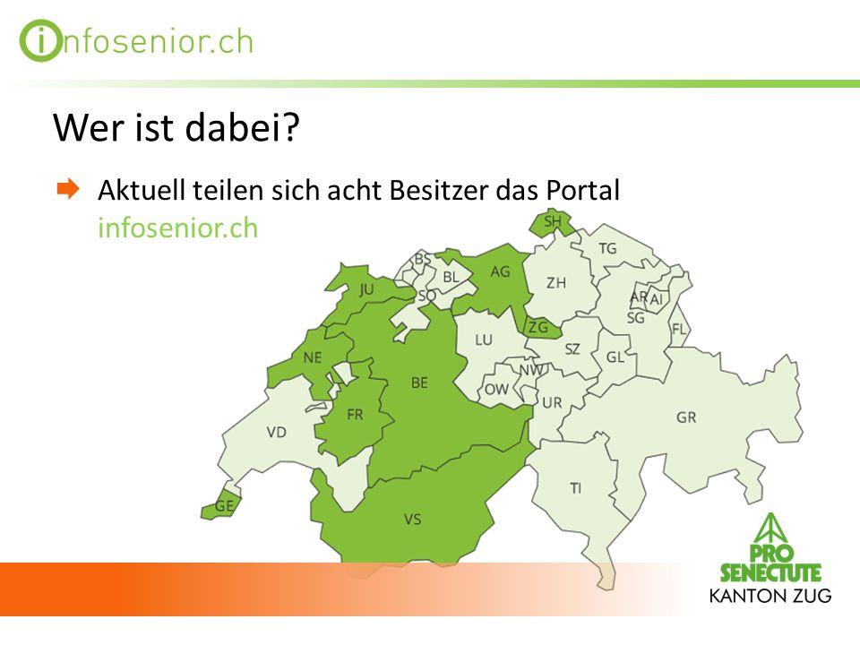 Wer ist dabei? Aktuell teilen sich acht Besitzer das Portal infosenior.ch