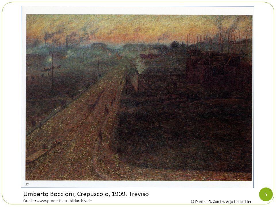 5 Umberto Boccioni, Crepuscolo, 1909, Treviso Quelle: www.prometheus-bildarchiv.de © Daniela G. Camhy, Anja Lindbichler