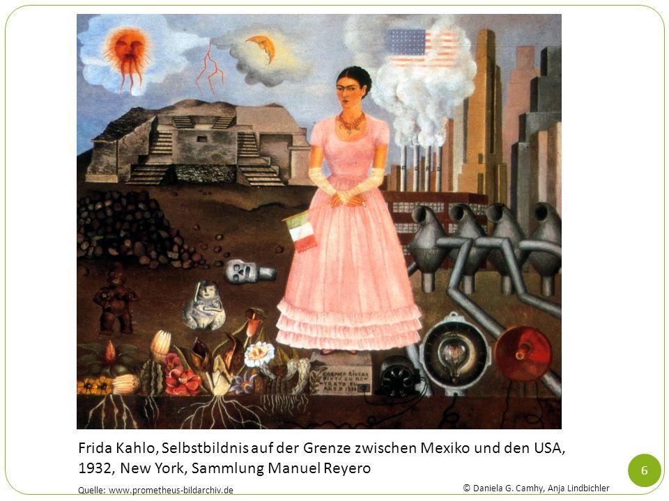 6 Frida Kahlo, Selbstbildnis auf der Grenze zwischen Mexiko und den USA, 1932, New York, Sammlung Manuel Reyero Quelle: www.prometheus-bildarchiv.de ©