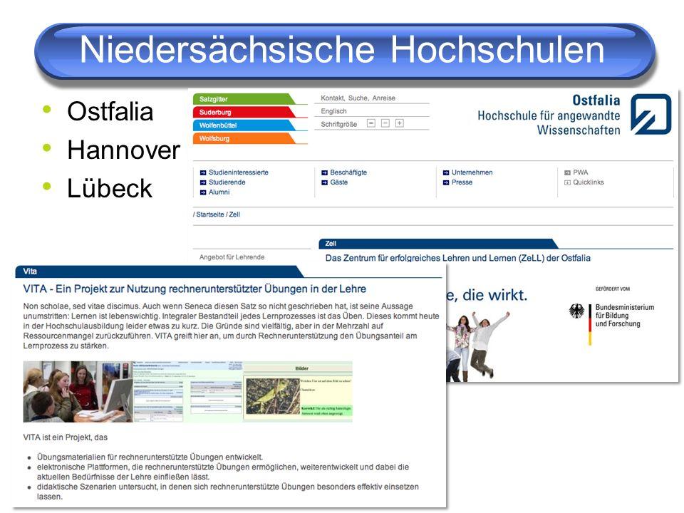 Niedersächsische Hochschulen Ostfalia Hannover Lübeck