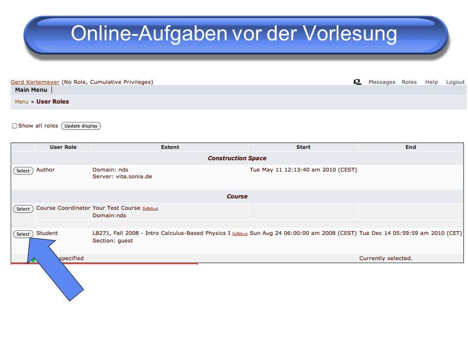 Online Diskussionen Diskussionen Wiederrum: Peer-Instruction.