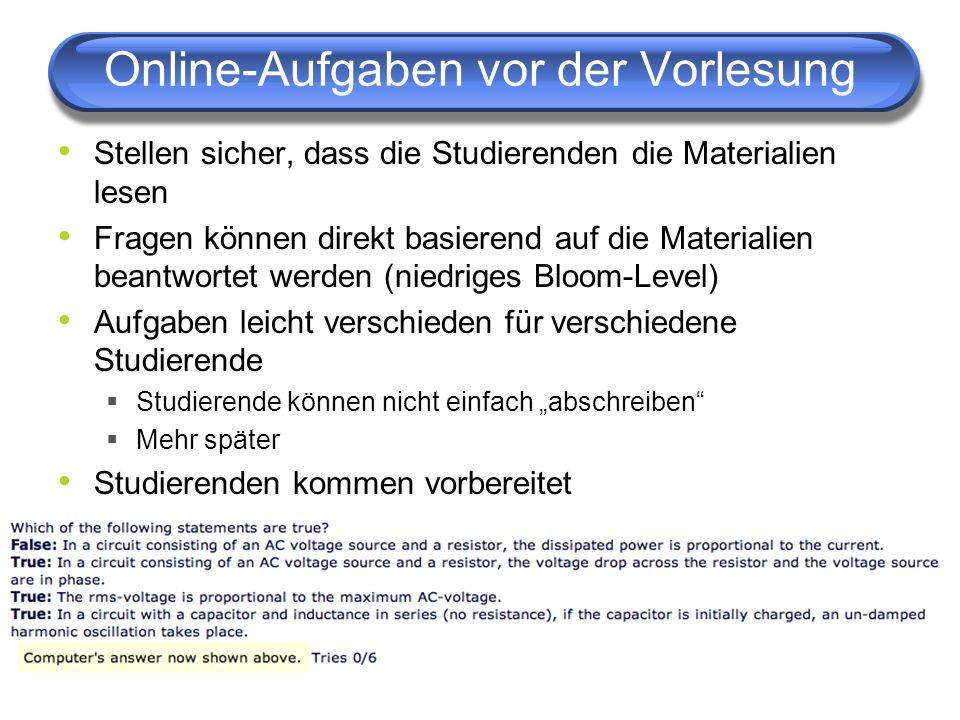 Neue Richtung: Offene Kurse Online Materialien, Hausübungen und Quize