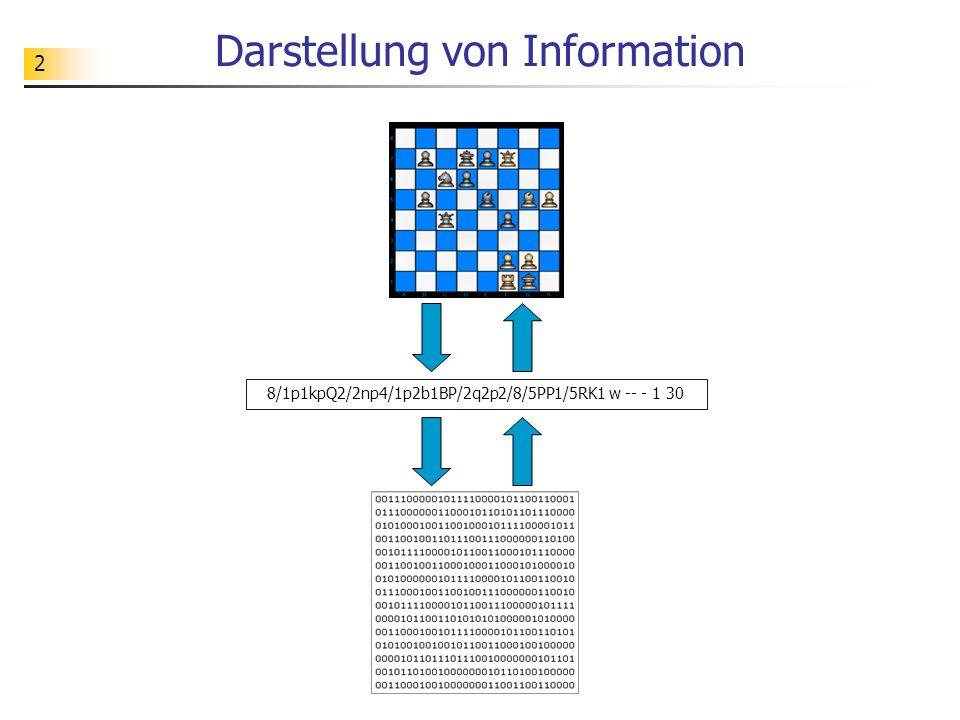 2 Darstellung von Information 8/1p1kpQ2/2np4/1p2b1BP/2q2p2/8/5PP1/5RK1 w -- - 1 30