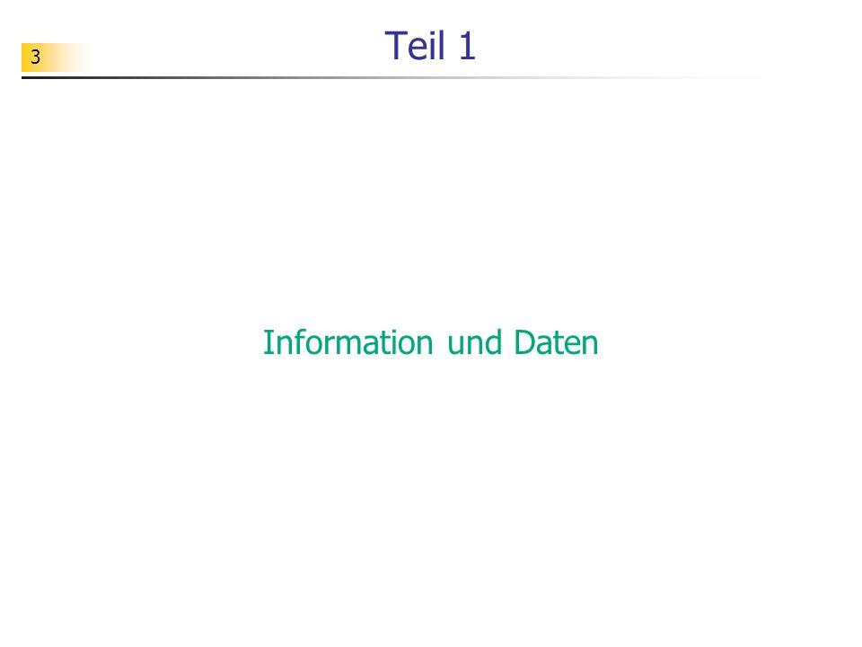 3 Teil 1 Information und Daten