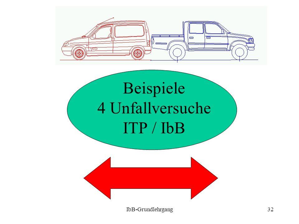 IbB-Grundlehrgang32 Beispiele 4 Unfallversuche ITP / IbB