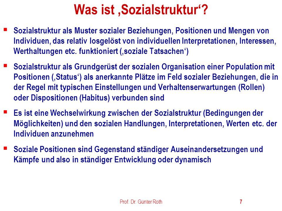 Prof.Dr. Günter Roth 8 Was ist ein Stand.