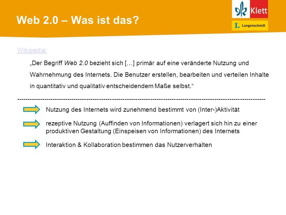 Web 2.0 – Was ist das.