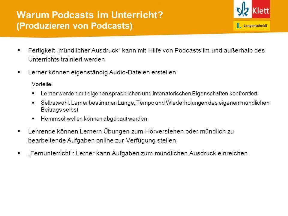 ersten Podcast veröffentlichen 1)zu veröffentlichende MP3-Datei auswählen 2)ausgewählte MP3-Datei hochladen