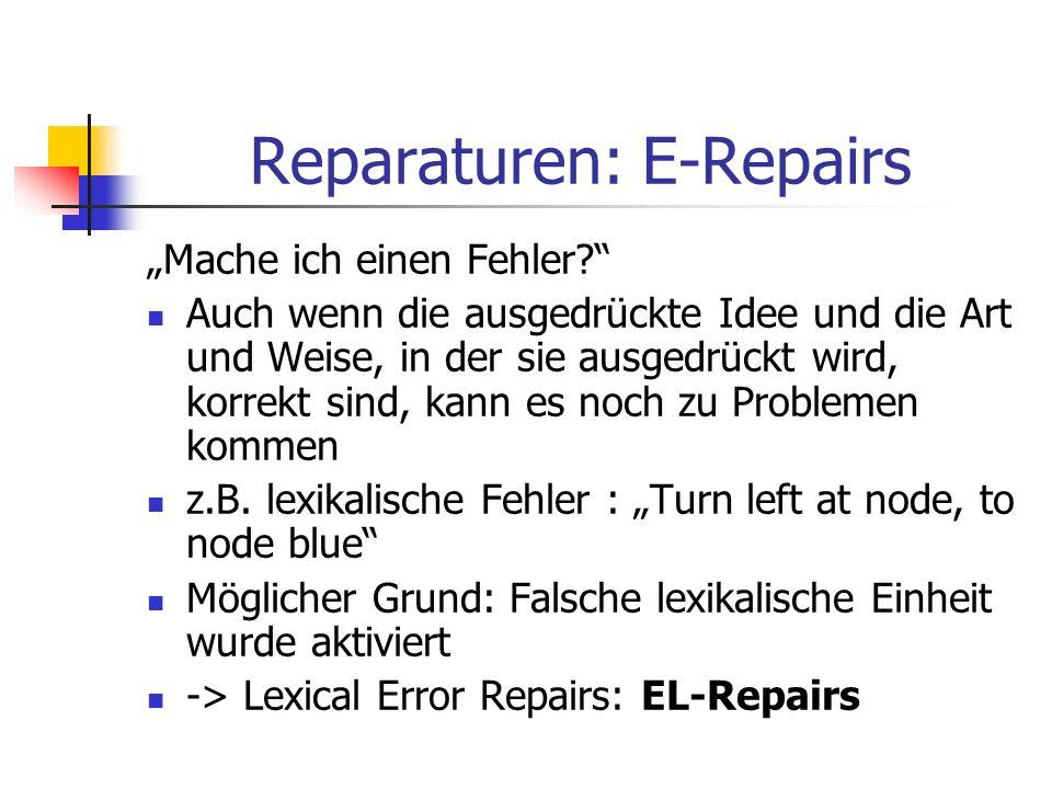 Reparaturen: E-Repairs Mache ich einen Fehler? Auch wenn die ausgedrückte Idee und die Art und Weise, in der sie ausgedrückt wird, korrekt sind, kann