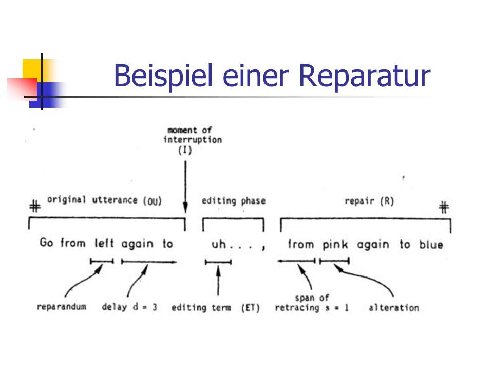 Beispiel einer Reparatur