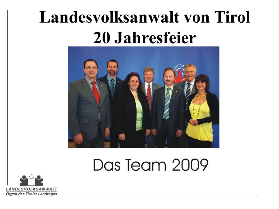 Landesvolksanwalt von Tirol 20 Jahresfeier