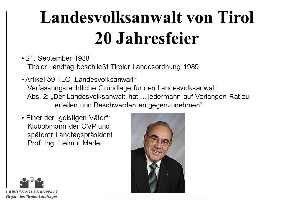 Landesvolksanwalt von Tirol 20 Jahresfeier 21.