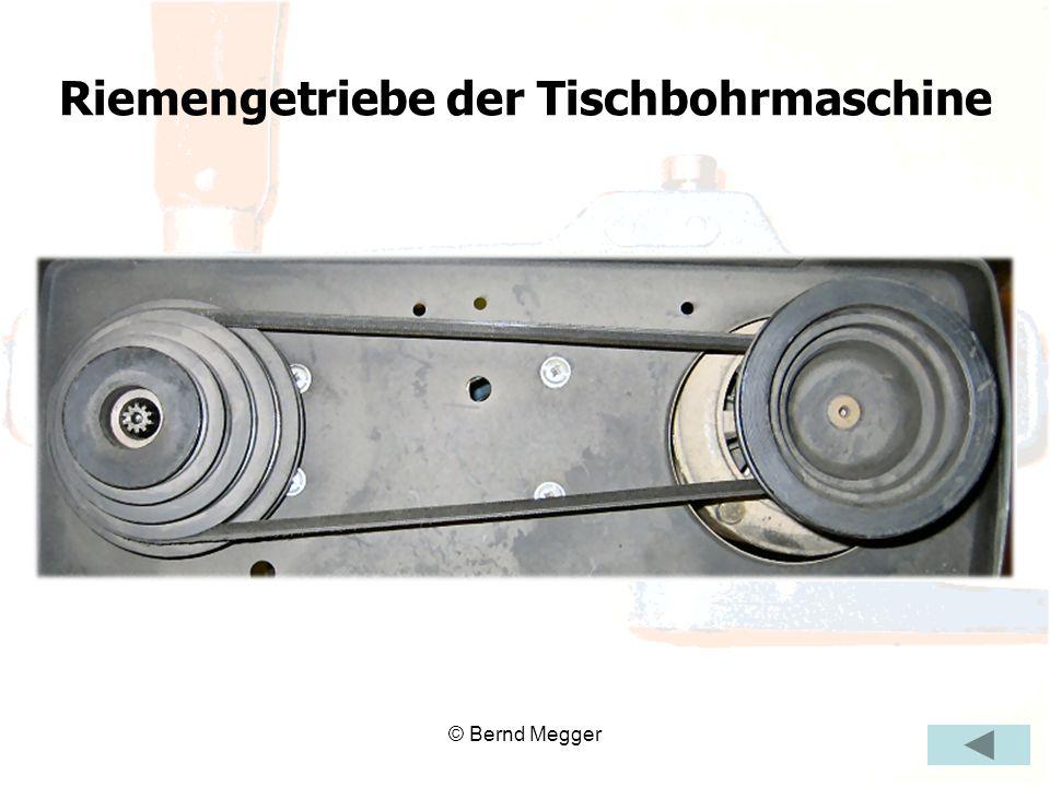 © Bernd Megger Riemengetriebe der Tischbohrmaschine
