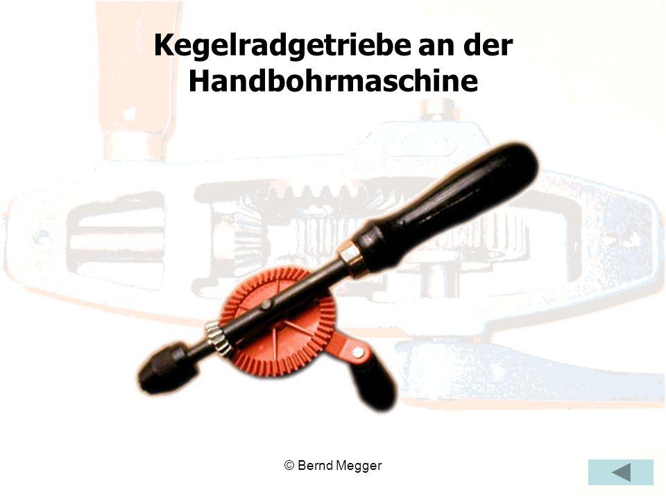 © Bernd Megger Kegelradgetriebe an der Handbohrmaschine