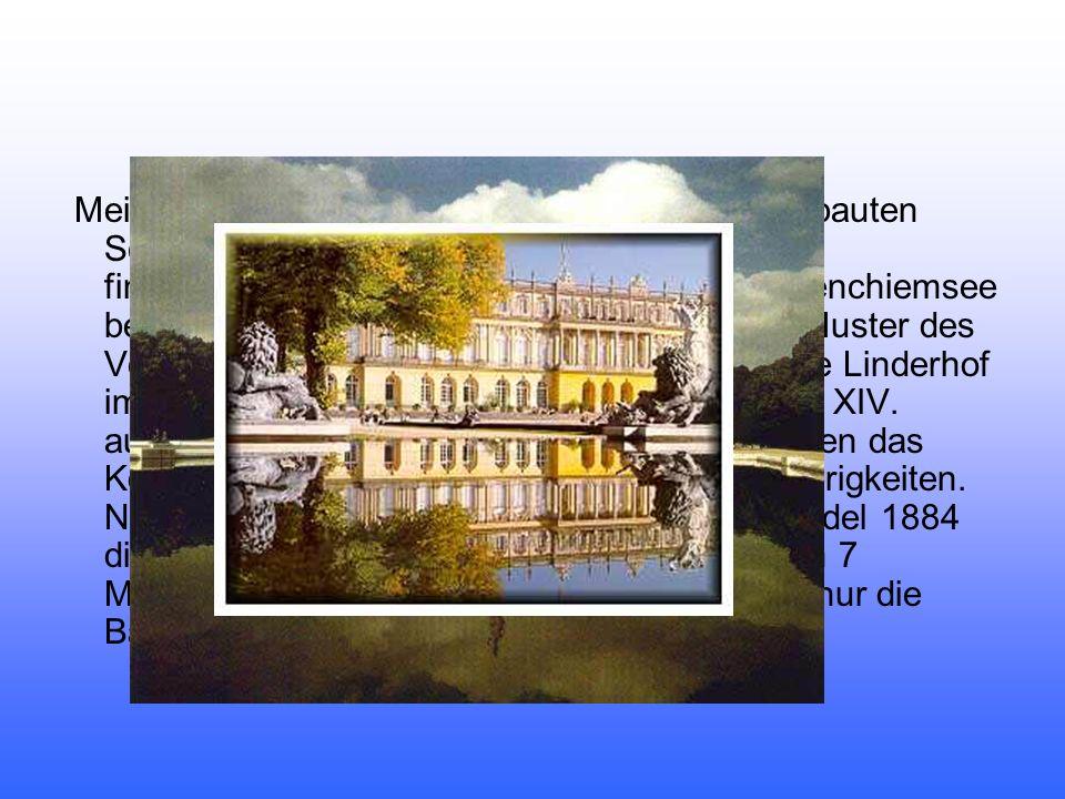 Meist lebte er in Linderhof oder auf dem neu erbauten Schloss Neuschwanstein, das er mit großem finanziellem Aufwand erbaute. Auch auf Herrenchiemsee