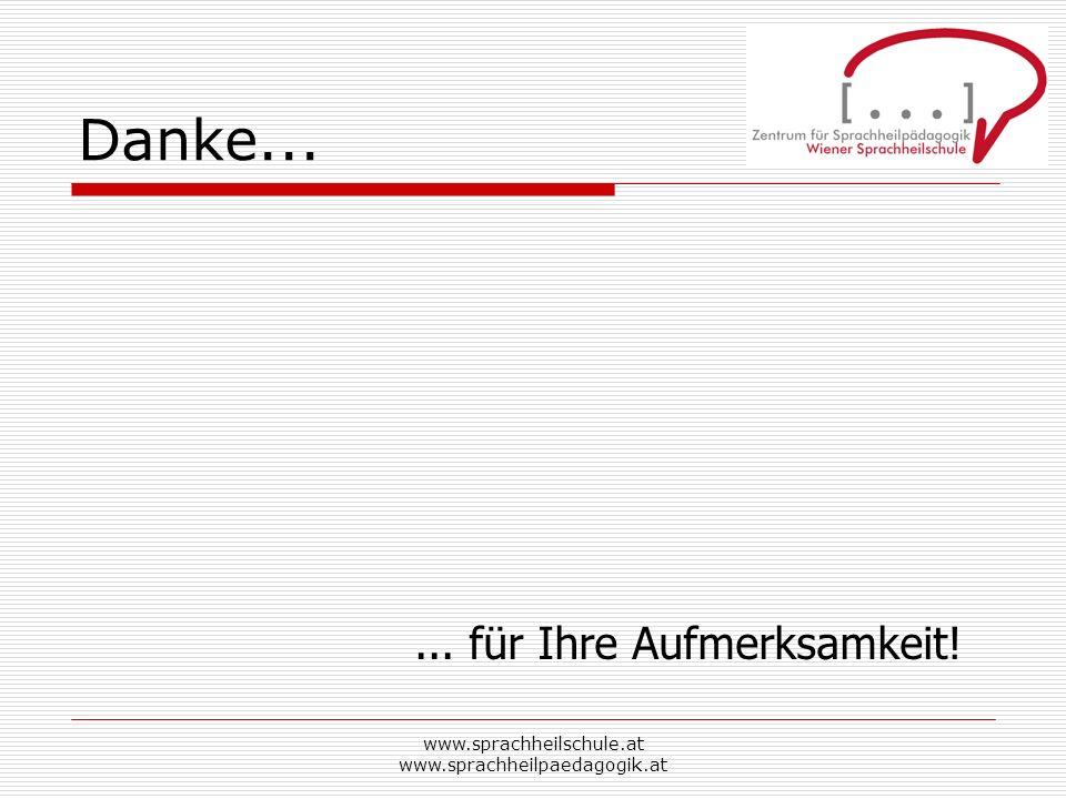 www.sprachheilschule.at www.sprachheilpaedagogik.at Danke...... für Ihre Aufmerksamkeit!