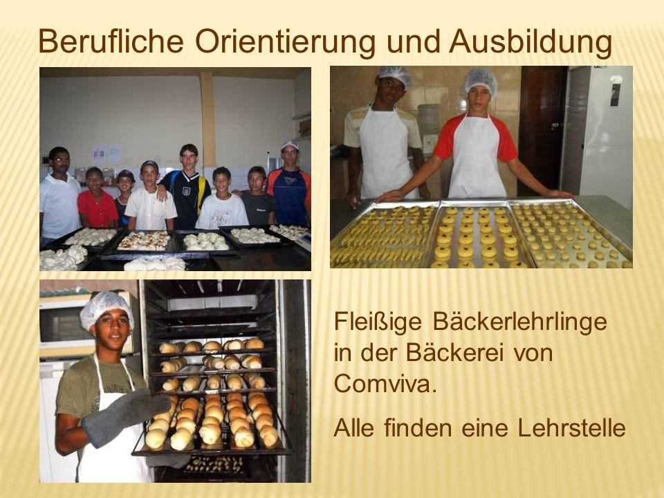 Berufliche Orientierung und Ausbildung Fleißige Bäckerlehrlinge in der Bäckerei von Comviva. Alle finden eine Lehrstelle