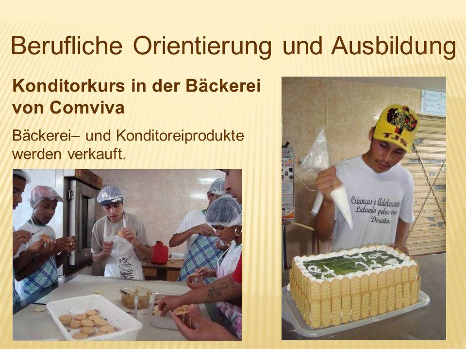 Berufliche Orientierung und Ausbildung Konditorkurs in der Bäckerei von Comviva Bäckerei– und Konditoreiprodukte werden verkauft.