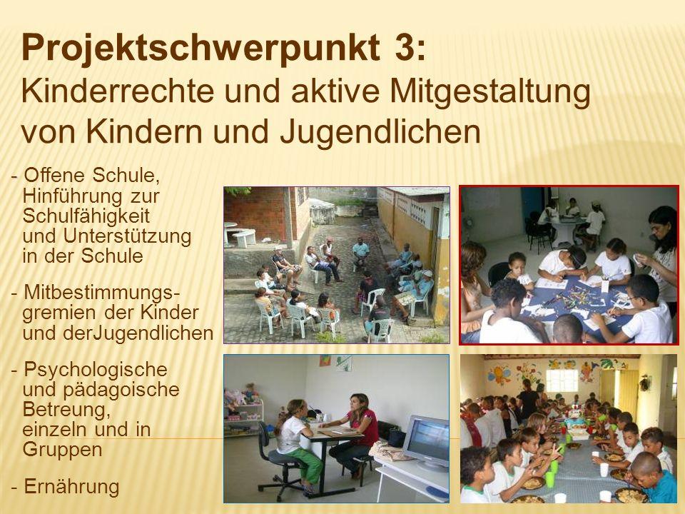 - - Offene Schule, Hinführung zur Schulfähigkeit und Unterstützung in der Schule - Mitbestimmungs- gremien der Kinder und derJugendlichen - Psychologi