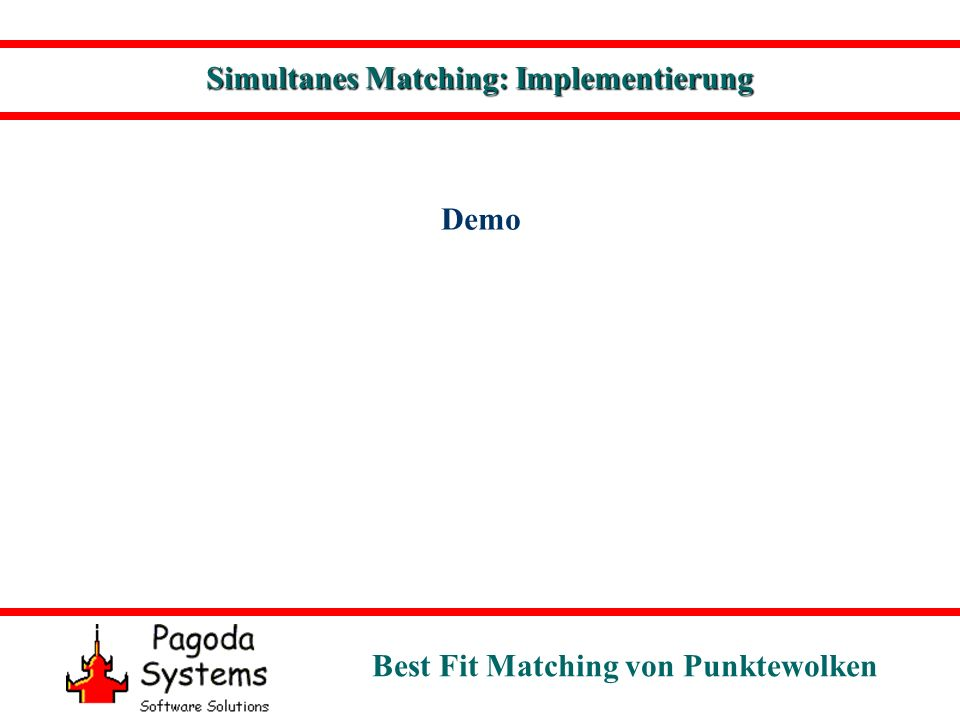 Best Fit Matching von Punktewolken Demo Simultanes Matching: Implementierung