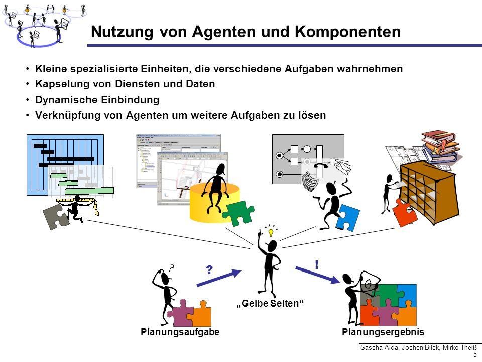 5 Sascha Alda, Jochen Bilek, Mirko Theiß Nutzung von Agenten und Komponenten Kleine spezialisierte Einheiten, die verschiedene Aufgaben wahrnehmen Kap
