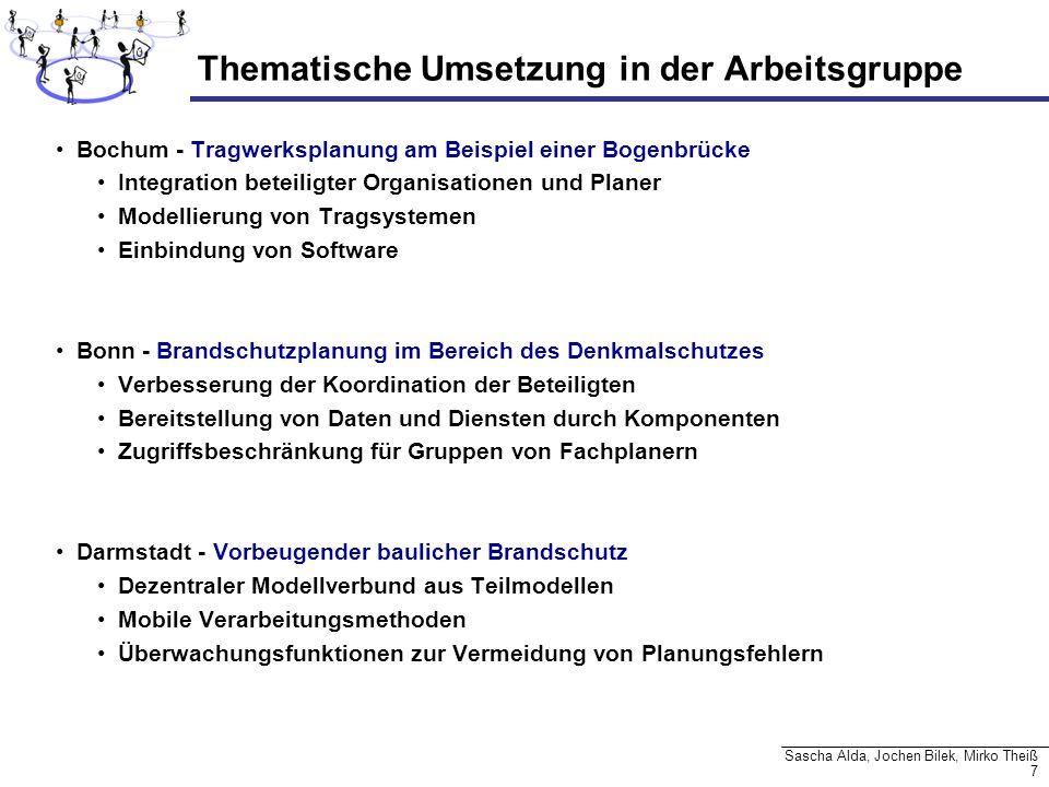 7 Sascha Alda, Jochen Bilek, Mirko Theiß Thematische Umsetzung in der Arbeitsgruppe Bochum - Tragwerksplanung am Beispiel einer Bogenbrücke Integratio