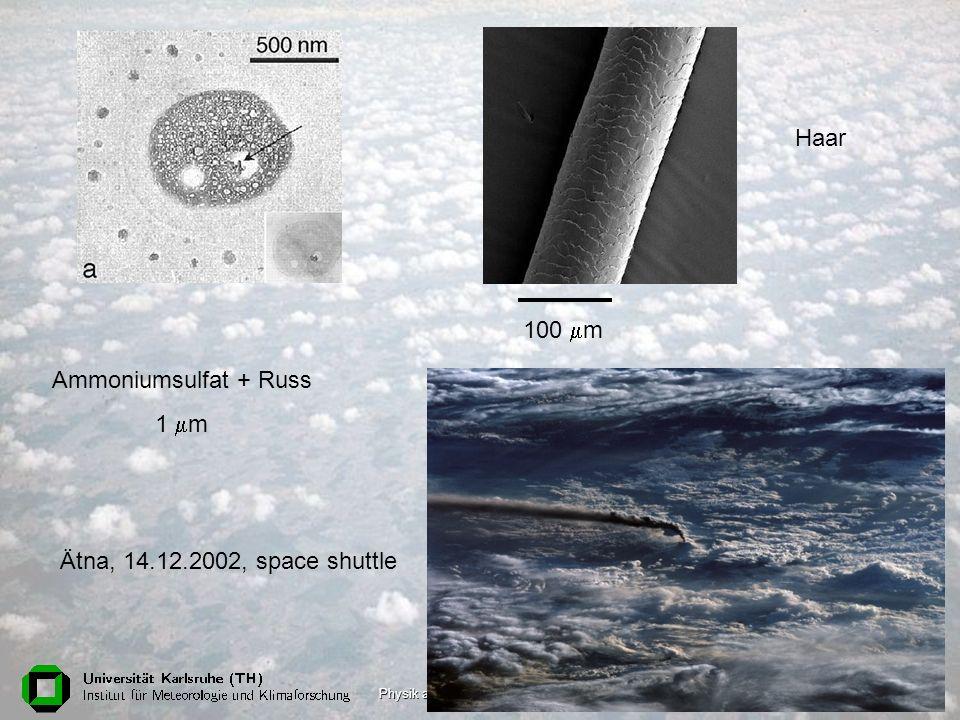 Physik am Samstag, 18. Juni 200523 Ammoniumsulfat + Russ 1 m 100 m Haar Ätna, 14.12.2002, space shuttle