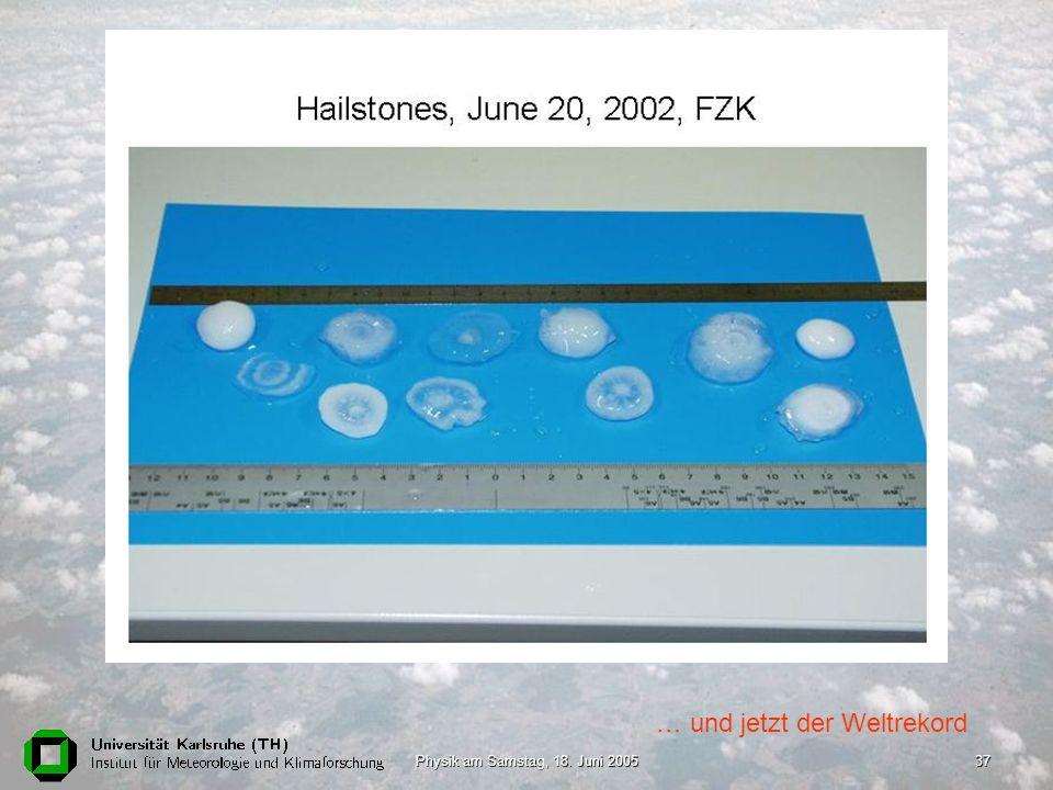 Physik am Samstag, 18. Juni 200537 … und jetzt der Weltrekord