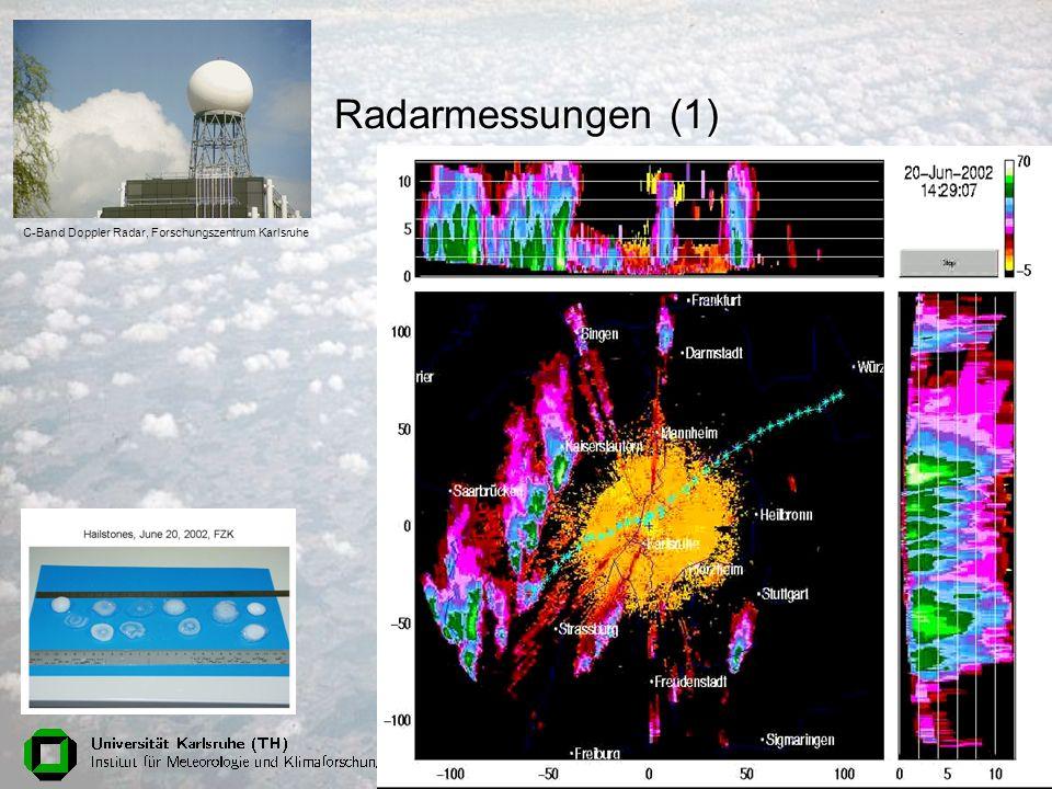 Physik am Samstag, 18. Juni 200551 Radarmessungen (1) C-Band Doppler Radar, Forschungszentrum Karlsruhe
