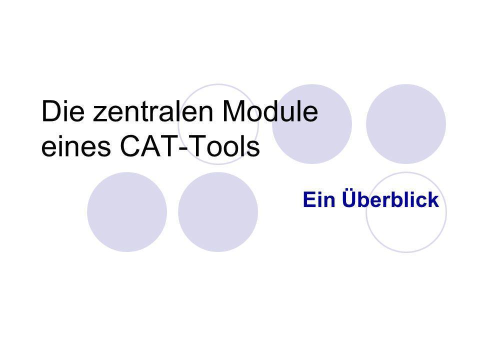 Nicole Keller: CAT-Tools am IUED, 08.12.20049 TM: Translation Memory (1) Datenbank für Übersetzungseinheiten Anlegen, verwalten und pflegen von TMs Analyse und Vorübersetzung von neuen Texten Konkordanzsuche Zentraler Bestandteil eines CAT-Tools