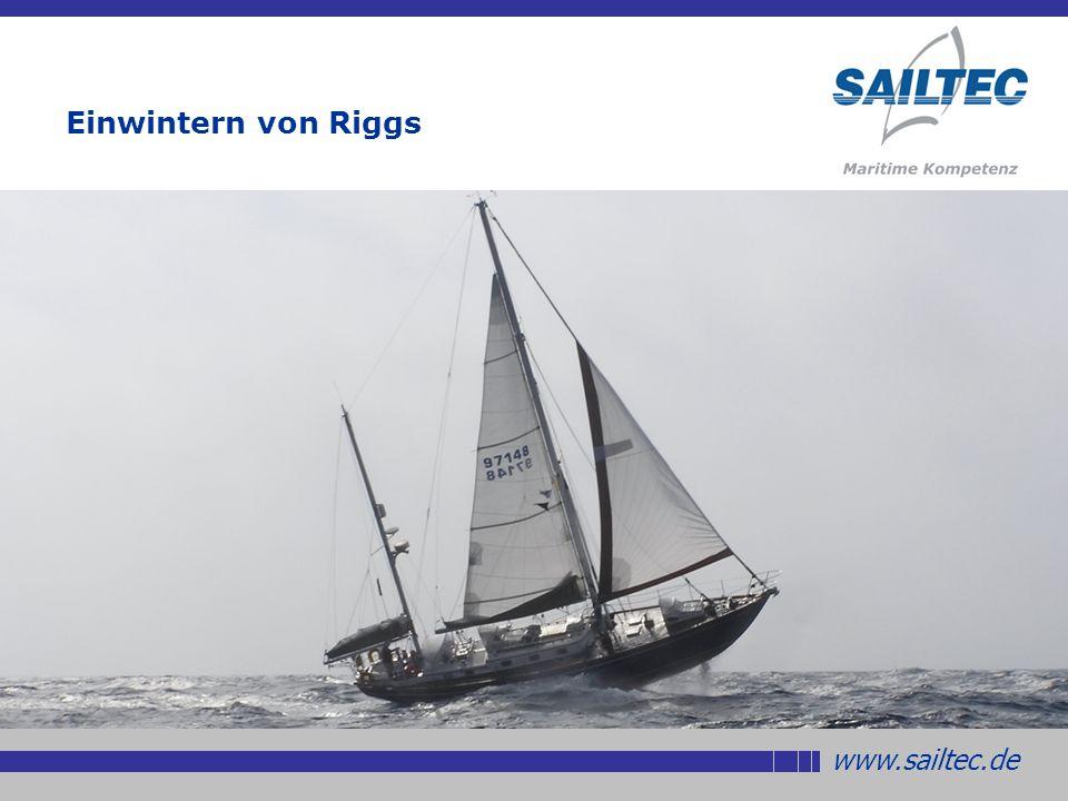 www.sailtec.de Sta-Lok Terminals für die Selbsthilfe Sollte ein Draht oder Terminal während einer Reise brechen, kann man sich sehr gut und sicher mit Sta- Lok Terminals helfen Einwintern von Riggs