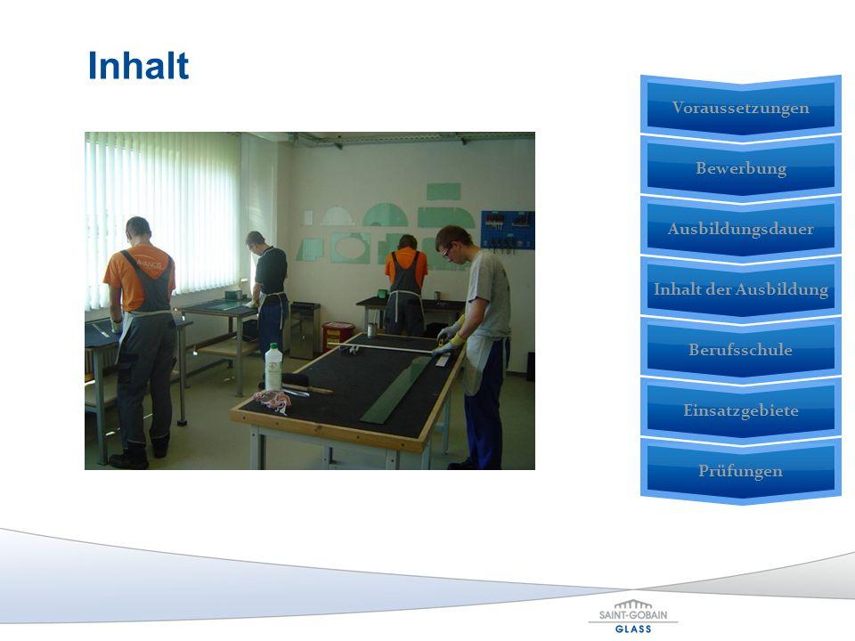 Prüfungen Einsatzgebiete BerufsschuleInhalt der AusbildungAusbildungsdauerBewerbung Voraussetzungen Inhalt