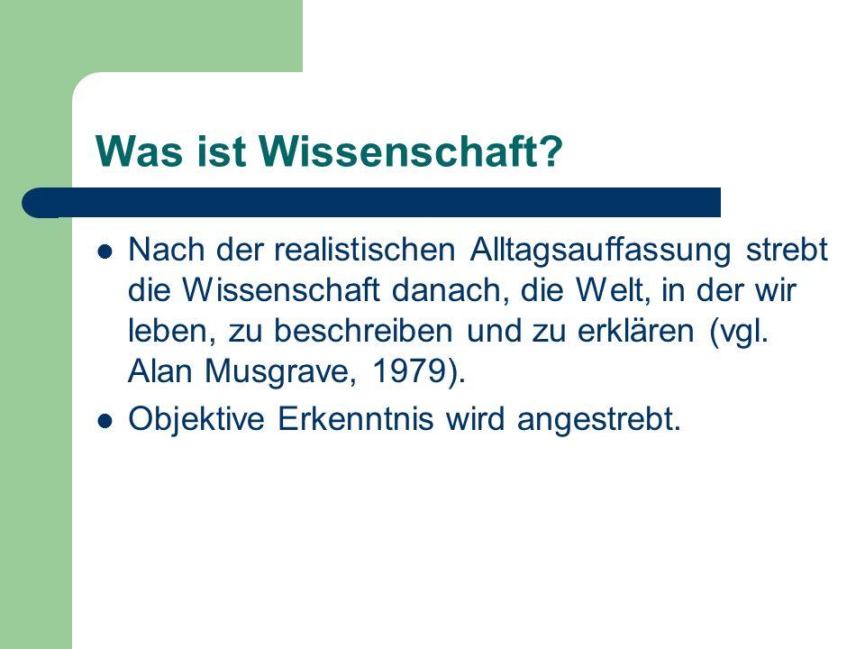 Aspekte der konstruktivistischen Wissenstheorie (nach Ernst von Glasersfeld, 1997) I.