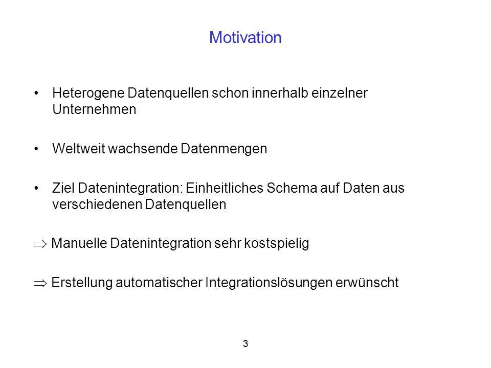 4 AutoMed Domänenunabhängiger Ansatz zur automatischen Datenintegration Zugrundeliegendes Konzept: Hypergraph Data Model Both-as-View-Ansatz als Integrationskonzept Optimierung und Validierung der entstandenen Transformationspfade durch die Transformation Manipulation Language