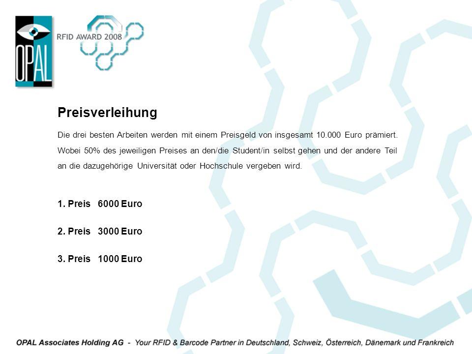 Die drei besten Arbeiten werden mit einem Preisgeld von insgesamt 10.000 Euro prämiert. Wobei 50% des jeweiligen Preises an den/die Student/in selbst