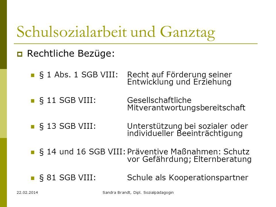 22.02.2014Sandra Brandt, Dipl. Sozialpädagogin VIELEN DANK FÜR DAS GROßE OHR!!!