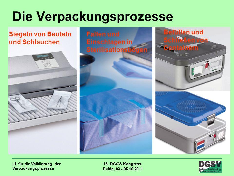 LL für die Validierung der Verpackungsprozesse 15. DGSV- Kongress Fulda, 03.- 05.10.2011 LL für die Validierung der 15. DGSV- Kongress Fulda, 03.- 05.